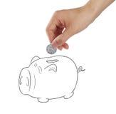 Savings. Value-added savings plan??White background royalty free stock photos
