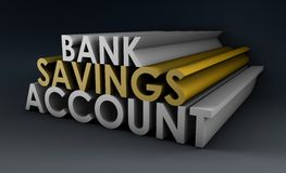 Savings Account. Bank Savings Account as a Concept in 3d stock illustration