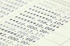 Savings account passbook Stock Images
