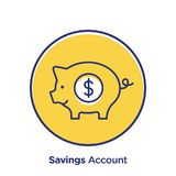 Savings Account Web Icon. A vector illustration of pig bank icon on a white background Stock Image