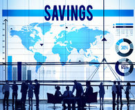 Savings Accounting Banking Economy Financial Concept Royalty Free Stock Photo