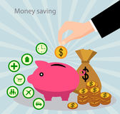 Savings and the accumulation of money Royalty Free Stock Photo