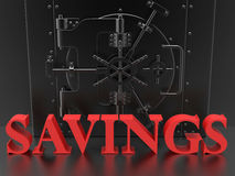 Savings bank vault concept Royalty Free Stock Photo