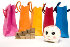 Savings at Bargains Royalty Free Stock Image