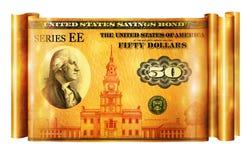 Savings Bond Gold Banner Royalty Free Stock Photography
