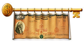 Savings Bond Key Banner Stock Photo