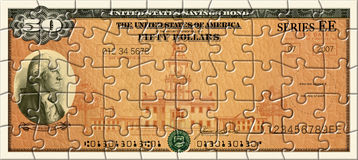 Savings Bond Puzzle Stock Photos