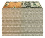Savings Bond to Fifty Stack Stock Photo