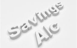 Savings a/c Royalty Free Stock Photography
