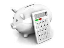 Savings calculator Stock Photo