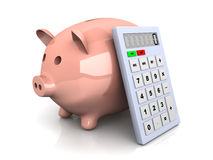 Savings calculator Royalty Free Stock Photos