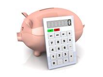 Savings calculator Royalty Free Stock Image