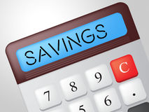 Savings Calculator Indicates Cash Increase And Wealth Royalty Free Stock Photography