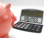 Savings Calculator Shows Growth Save And Invest Royalty Free Stock Images