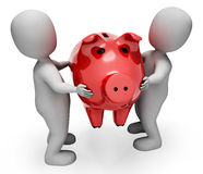 Savings Character Represents Piggy Bank And Illustration 3d Rendering. Character Savings Indicating Piggy Bank And Render 3d Rendering Stock Photo