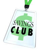Savings Club Badge ID Card Special Discount Save More Stock Photography