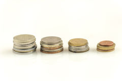 Savings,  columns of  coins Royalty Free Stock Image