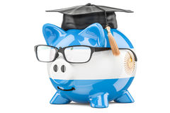 Savings for education in Argentina concept, 3D rendering Royalty Free Stock Photography