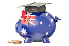 Savings for education in Australia concept, 3D rendering Royalty Free Stock Photography