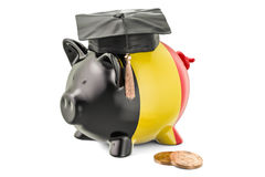 Savings for education in Belgium concept, 3D rendering Stock Photos