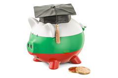 Savings for education in Bulgaria concept, 3D rendering Stock Images