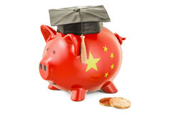 Savings for education in China concept, 3D rendering Royalty Free Stock Image
