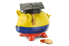 Savings for education in Colombia concept, 3D rendering Royalty Free Stock Photo