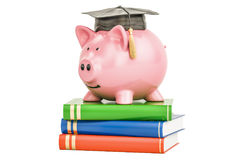 Savings for education concept, 3D rendering. Isolated on white background Stock Image