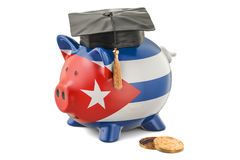 Savings for education in Cuba concept, 3D rendering Stock Photos