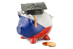 Savings for education in Czech Republic concept, 3D rendering Stock Image