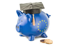 Savings for education in European Union concept, 3D rendering Stock Images