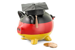 Savings for education in Germany concept, 3D rendering. On white background Royalty Free Stock Images