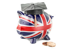 Savings for education in Great Britain concept, 3D rendering Stock Photo