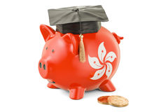 Savings for education in Hong Kong concept, 3D rendering Stock Image