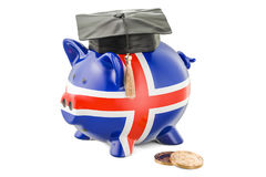 Savings for education in Iceland concept, 3D rendering Royalty Free Stock Photo