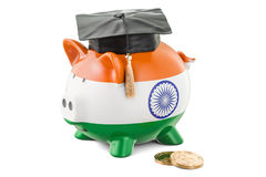 Savings for education in India concept, 3D rendering Royalty Free Stock Image