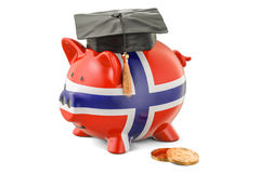 Savings for education in Norway concept, 3D rendering Stock Image