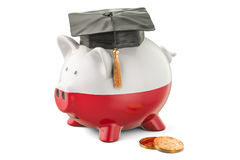 Savings for education in Poland concept, 3D rendering Royalty Free Stock Photography