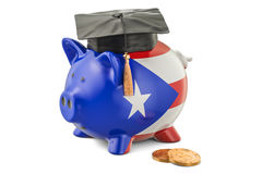 Savings for education in Puerto Rico concept, 3D rendering Stock Images