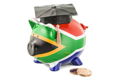 Savings for education in South Africa concept, 3D rendering Royalty Free Stock Images