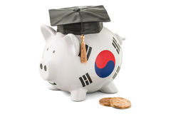 Savings for education in South Korea concept, 3D rendering Stock Photography
