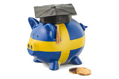 Savings for education in Sweden concept, 3D rendering Stock Photo
