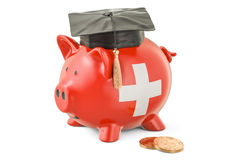 Savings for education in Switzerland concept, 3D rendering Royalty Free Stock Images