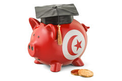 Savings for education in Tunisia concept, 3D rendering Stock Images