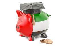Savings for education in UAE concept, 3D rendering Stock Photos