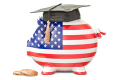 Savings for education in United States concept, 3D rendering Royalty Free Stock Images