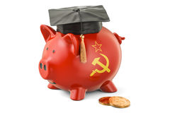 Savings for education in USSR concept, 3D rendering Royalty Free Stock Photography