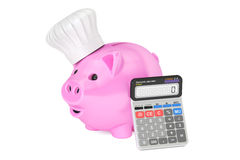 Savings family budget for food and cooking concept, 3D rendering Stock Image