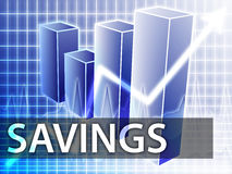 Savings finances. Illustration of bar chart diagram Royalty Free Stock Images