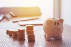 Savings, finances, economy and home budget Stock Photo